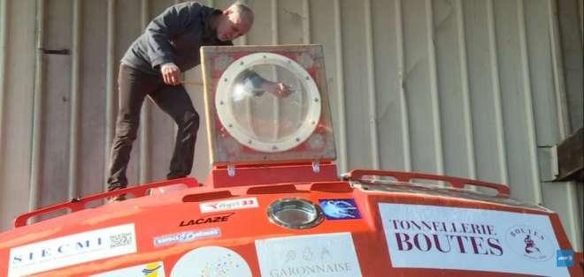 El barril será impulsado solo por las corrientes del mar. Foto: AFP