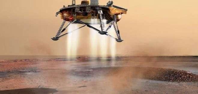 InSight entró en la atmósfera marciana a 19.800 km por hora. Foto: NASA
