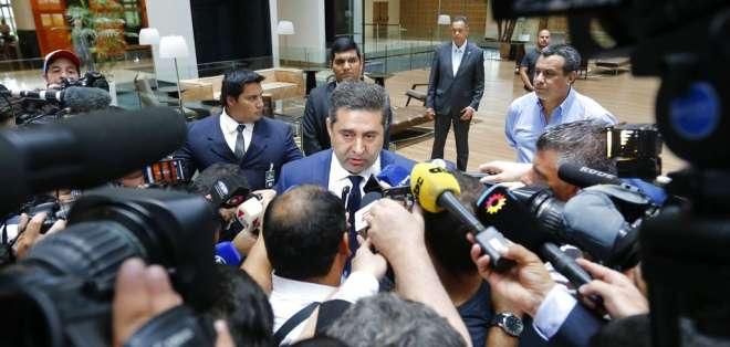 El presidente de Boca Juniors aseguró que no quieren jugar el partido suspendido. Foto: AP Foto/Jorge Sáenz