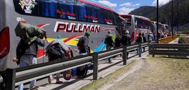 QUITO, Ecuador.- La mayoría de los venezolanos utilizan Ecuador como zona de tránsito hacia otros países. Foto: API.