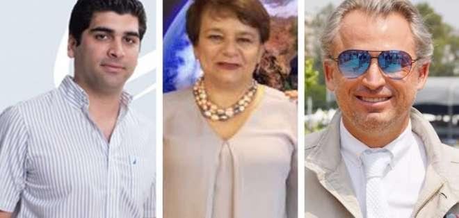 Dos especialistas en Economía, Otto Sonnenholzner y Agustín Albán, y una comunicadora social, Nancy Vasco. Foto: El Tiempo.