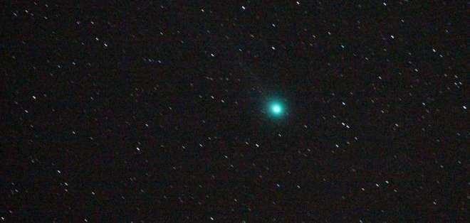 El 46P/Wirtanen se verá de color verde, como el cometa Lovejoy, aquí visto en 2015 sobre los cielos de Bulgaria. Getty Images