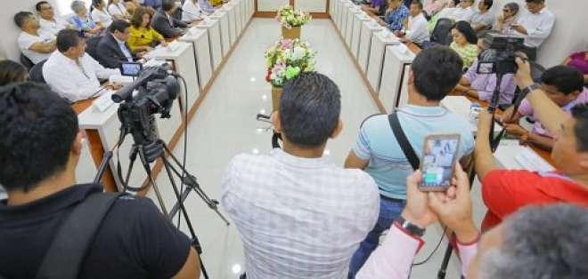 Varias ausencias imposibilitaron un pronunciamiento mayoritario a favor del prefecto. Foto: Archivo/Revista Zona Libre.