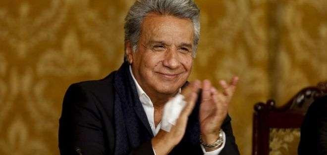 El 54 % de los encuestados por Cedatos desaprueba la gestión de Moreno. Foto: Archivo