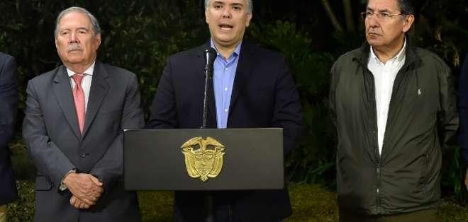 """""""Alias Guacho cayó en una operación y que ha sido abatido"""", declaró el presidente colombiano Iván Duque a medios.  Foto: AFP"""