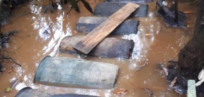 El hallazgo se produjo específicamente en el sector Portonuevo en la y de Chanague. Foto: Cortesía.