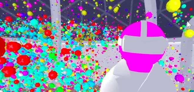 El avatar de un científico puede explorar un tumor dentro de la realidad virtual.