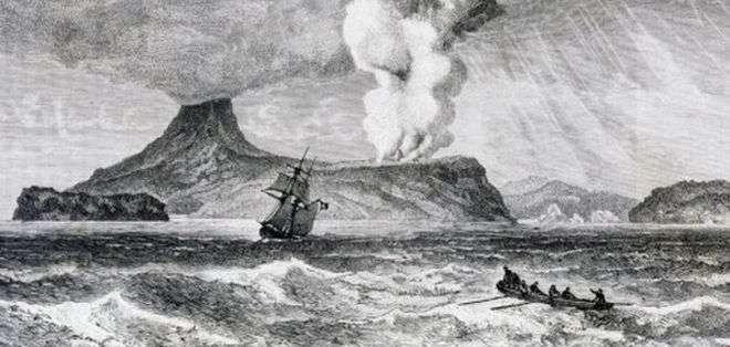 La erupción del Krakatoa es una de las más fuertes de las que se tenga registro.