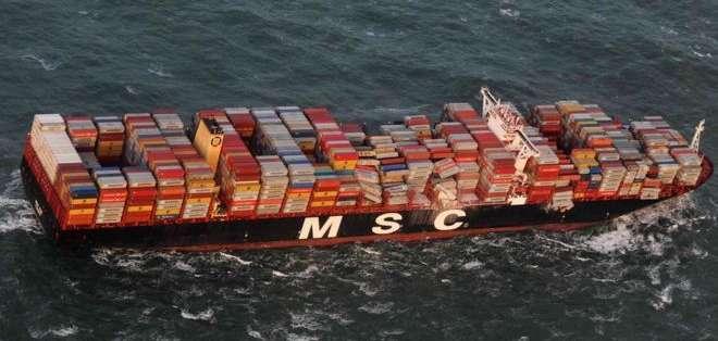 De los 270 contenedores que se cayeron al mar, más de 200 seguían sin ubicarse el jueves.