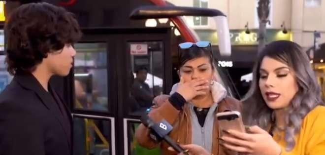 Durante programa, joven descubre que su pareja, una mujer mayor, le fue infiel. Foto: Captura de video