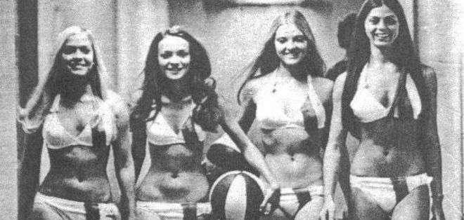 Las Chicas Mutiny atendían a los clientes del hotel.
