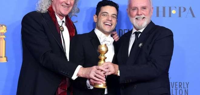 La cinta ganó el premio a mejor película dramática y a mejor actor con Rami Malek. Foto: AFP.
