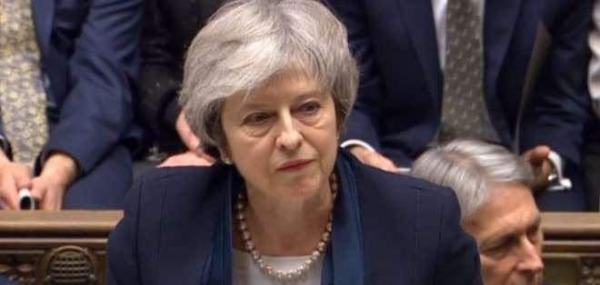 """Tras la derrota, Theresa May dijo que no está claró """"qué es lo que apoya el Parlamento""""."""