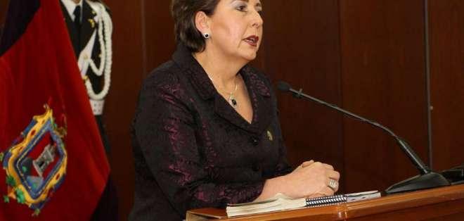 Titular de Corte de Justicia, Paulina Aguirre, argumenta que hay oscuros intereses. Foto: CNJ / Archivo