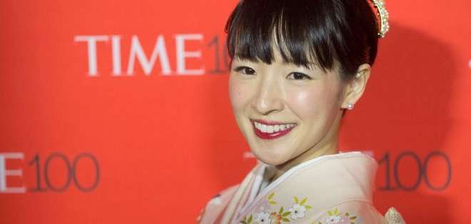 La japonesa Marie Kondo, de 34 años, se ha convertido en un fenómeno con su método para ordenar, llamado KonMari. Foto: Getty