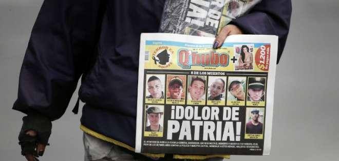 Ataque con coche bomba en Bogotá atribuido al ELN cierra puertas a proceso de paz. Foto: AFP