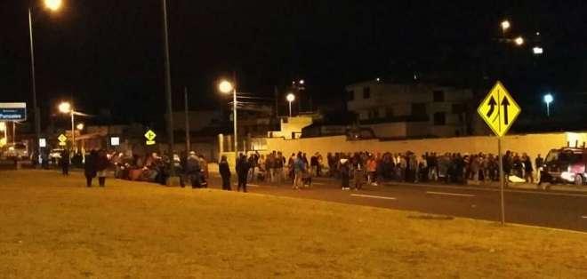 La Conaie denunció en redes represión policial, mientras se registran vía bloqueadas. Foto: Conaie