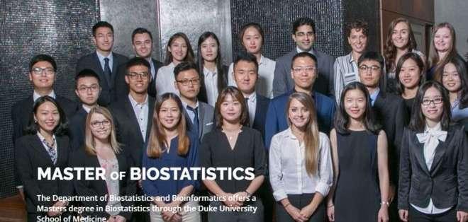 La maestría en Bioestadística de la Universidad de Duke, Estados Unidos, atrae a estudiantes de una amplia gama de países.