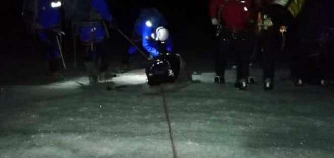 Los turistas estaban escalando el nevado de Cayambe, en Pichincha cuando se accidentaron. Foto: Ecu 911
