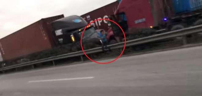 El impactante video se registró en Vietnam. Foto: Captura