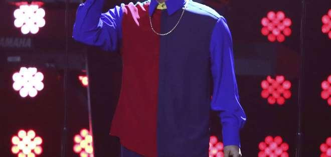 ATLANTA, EE.UU.- El artista se presentó en el  festival Bud Light Super Bowl Music Fest. Foto: AP.
