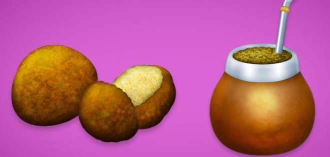 El falafel y el mate forman parte del nuevo conjunto de emojis que podrás usar en WhatsApp. EMOJIPEDIA