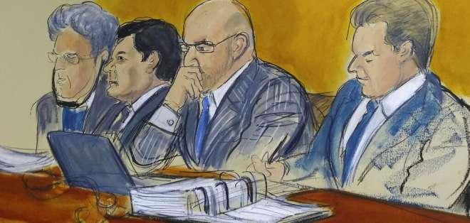 El jurado volverá a reunirse el próximo lunes para seguir deliberando sobre el destino del Chapo. Foto: AP: