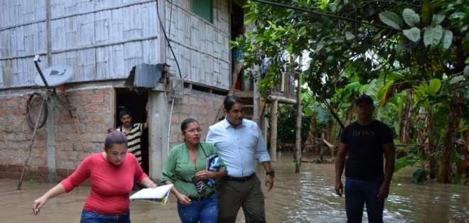 MANABÍ, Ecuador.- Chone y tres parroquias de Portoviejo quedaron inundandas tras fuertes precipitaciones. Foto: Twitter