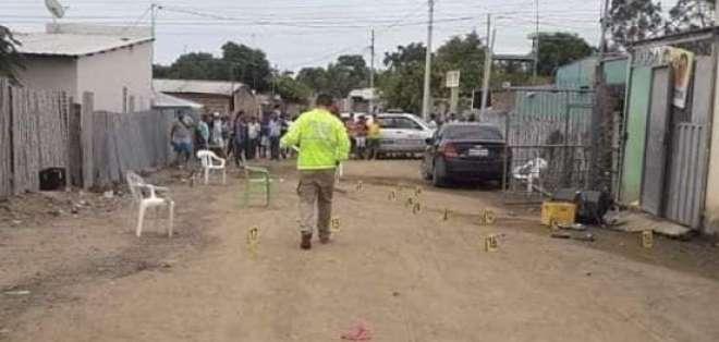 Balacera en Montecristi deja 3 muertos y dos heridos. Foto: AlDía.com.ec