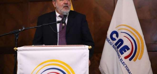 """QUITO, Ecuador.- Luis Verdesoto asegura """"que sufrió ataques y acoso"""" por parte de miembros del organismo. Foto: CNE."""