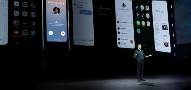 Samsung presentó el Galaxy S10. Foto: AFP