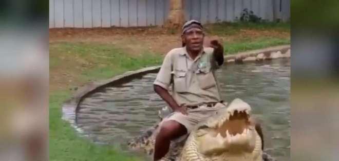Un video de trabajador de zoológico ha levantado tremenda controversia en redes sociales. Foto: Captura de video