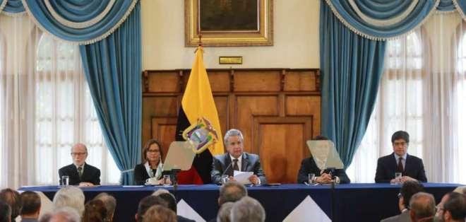 Lenín Moreno apoya creación de Tribunal de Cuentas. Foto: Cancillería Ecuador