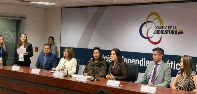 La titular del organismo, María del Carmen Maldonado, anunció que se contará con asistencia técnica. Foto: Judicatura