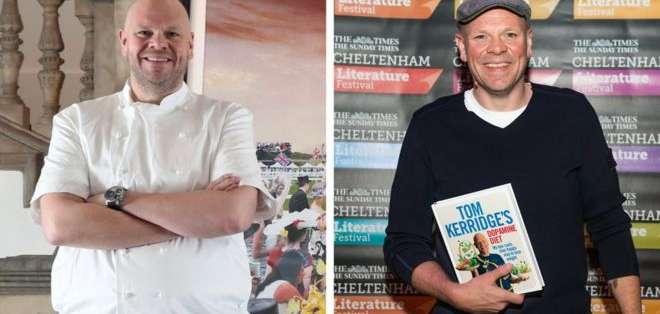 El antes y el después del chef Tom Kerridge.