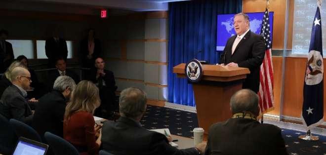 EEUU retirará a todos sus diplomáticos que permanecen en Venezuela. Foto: AFP