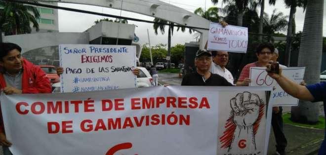 ECUADOR.- Las protestas de los empleados del medio público se realizaron en Quito y en Guayaquil. Foto: Cortesía