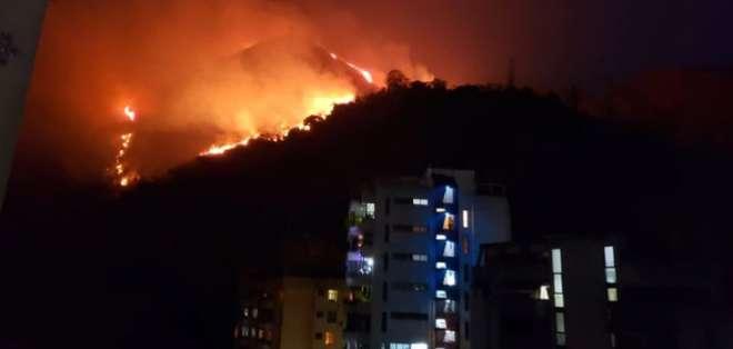El parque suele ser escenario de incendios forestales en época de sequía. Foto: Twitter