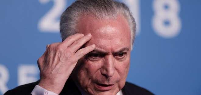 Detienen al expresidente brasileño Michel Temer. Foto: AFP