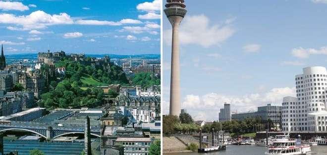 ¿Edimburgo o Düsseldorf? ¿Encuentras la diferencia?
