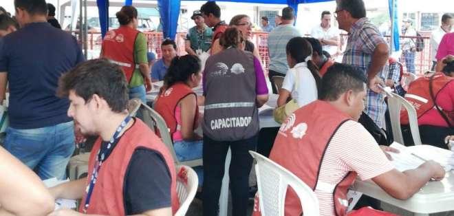 GUAYAQUIL, Ecuador.- En Guayas hay 3'182 028 votantes habilitados; de ellos 2'040 772 están en Guayaquil. Foto: CNE
