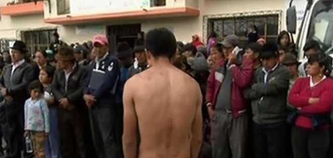 Hombre asesinó a su pareja y a su hijo en Latacunga. Foto: Captura de video