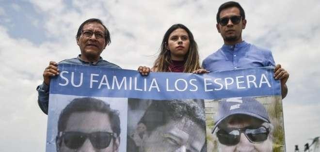 El secuestro y crimen del equipo periodístico sacudió a todo un país en 2018. Foto: Archivo AFP
