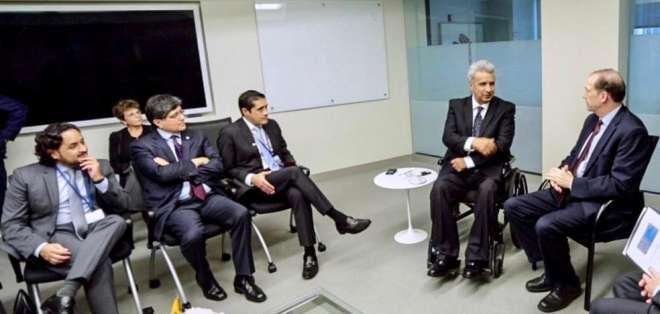 WASHINGTON, EE.UU.- Presidente Lenín Moreno se reunió en Washignton con titular del organismo, David Malpass. Foto: Presidencia