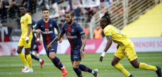 PSG se quedó con las ganas del título en su visita a Nantes.