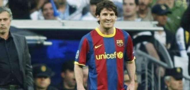 José Mourinho junto a Lionel Messi.