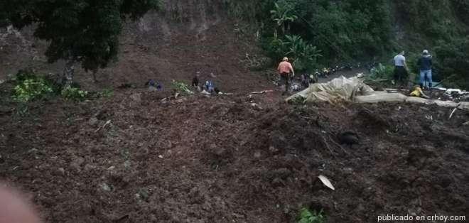 Deslave deja al menos siete muertos en Colombia. Foto: Redes