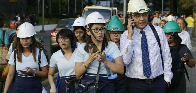 5 muertos por un terremoto en Filipinas. Foto: AP