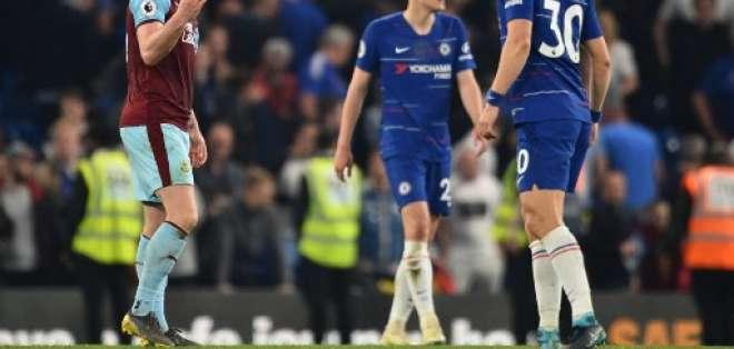 Los 'blues' igualaron 2-2 ante el Burnley en la Premier League. Foto: GLYN KIRK / AFP