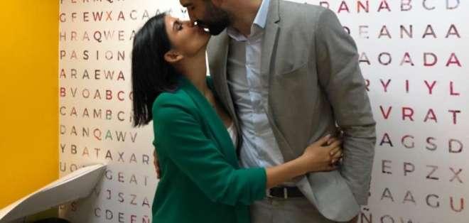 La actriz ecuatoriana y el psicólogo argentino-español cuentan detalles de su futura boda. Foto: ecuavisa.com